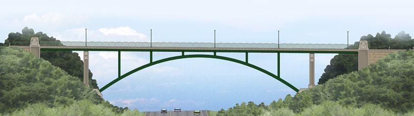 Illustration of the new Greenfield Bridge (illustration provided by Pat Hassett)
