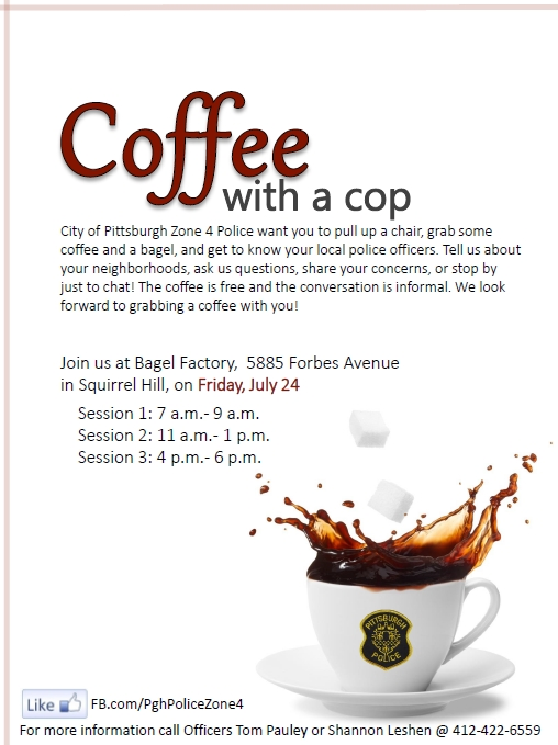 Coffee with a Cop, 24 July 2015