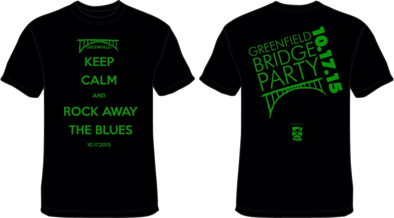 Keep Calm and Rock the Blues Away T-shirt