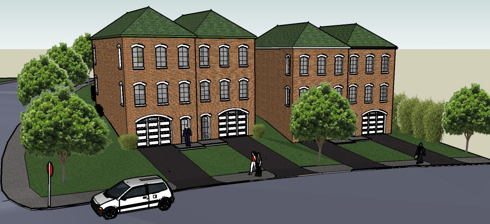 Illustration of planned development on Greenfield Avenue at McCaslin Street
