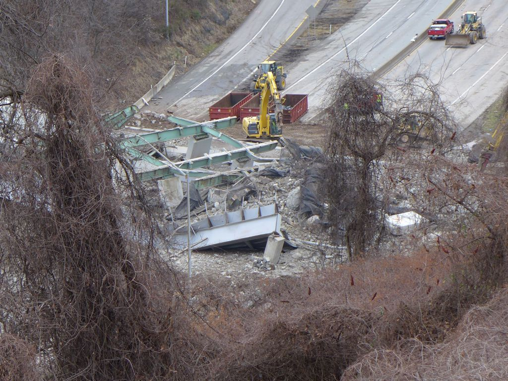Picking Up The Pieces: Greenfield Bridge rubble on the Parkway East