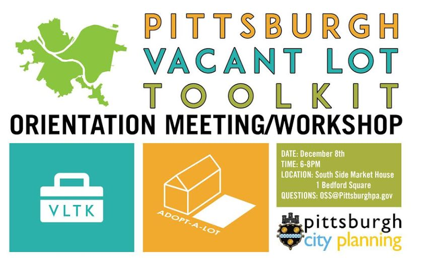 Pittsburgh Vacant Lot Toolkit meeting, Dec 8, 2015