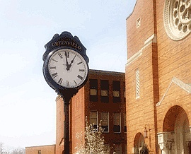 O'Connor Clock in front of St. Rosalia's