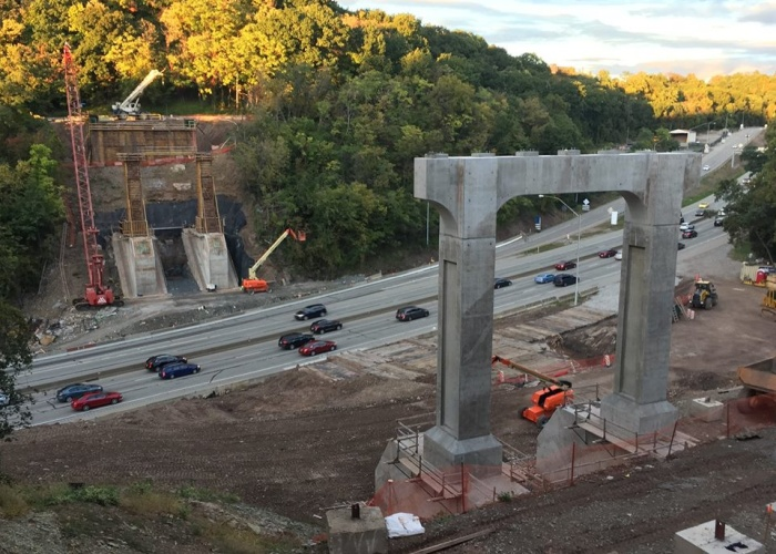 Greenfield Bridge pillars (photo by Pat Hassett)