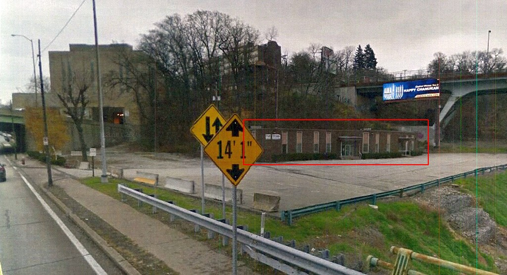 Buncher site at Squirrel Hill-Greenfield border, Forward at Beechwood ramp