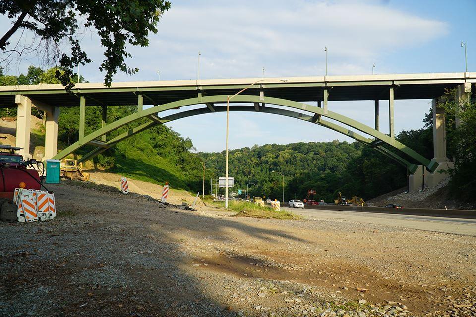 Greenfield Bridge progress as of 4 August 2017
