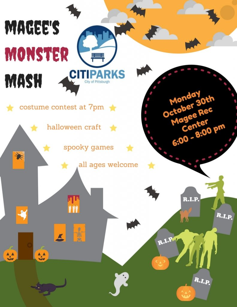 monster mash halloween party, oct 30 – greenfield community association
