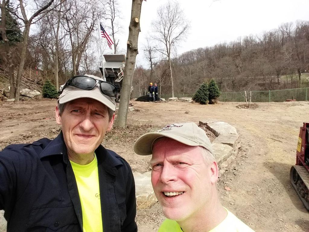 Patrick Hassett and David Cashmere at Hassett Park, 14 April 2018